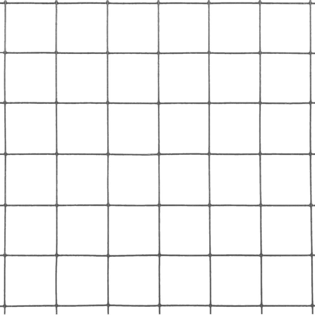 10x0,5m // 19x19mm, Grau UnfadeMemory Maschendraht Stahl mit PVC-Beschichtung Drahtgitter Volierendraht Stahldraht Quadrat Drahtzaun als Forstzaun Wildzaun Pflanzenschutz Zaun