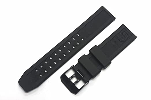 Amazon.com  LUMINOX Replacement Rubber Watch Band Strap with PVD ... ab99e14b1