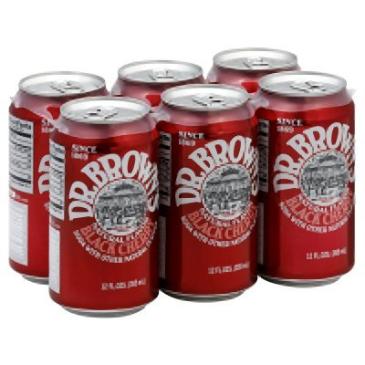 Dr Browns Soda Black Cherry 6 Pack, 72 fl - Browns Black Cherry