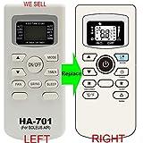 HA-701 Replacement for SOLEUS AIR Conditioner Remote Control works for TM-PAC-08E3 TM-PAC-12E4 TM-PAC-10E3