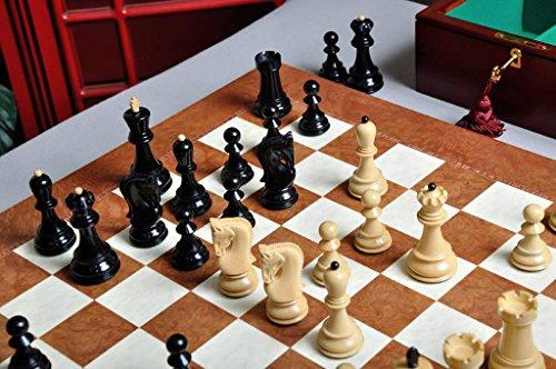 (The Zagreb '59 Series Chess Set, Box, Board Combination - Genuine Ebony and Natural Boxwood )