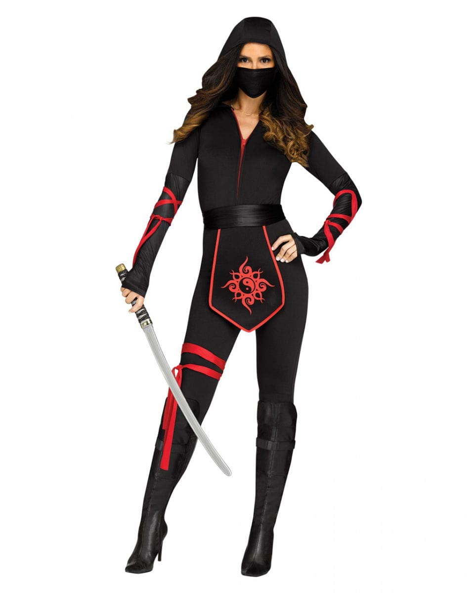 Horror-Shop Traje de Ninja Mujer del Guerrero L: Amazon.es ...