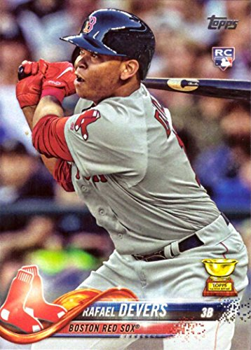 2018 Topps Baseball #18 Rafael Devers Rookie Card - His 1st Official Rookie Card