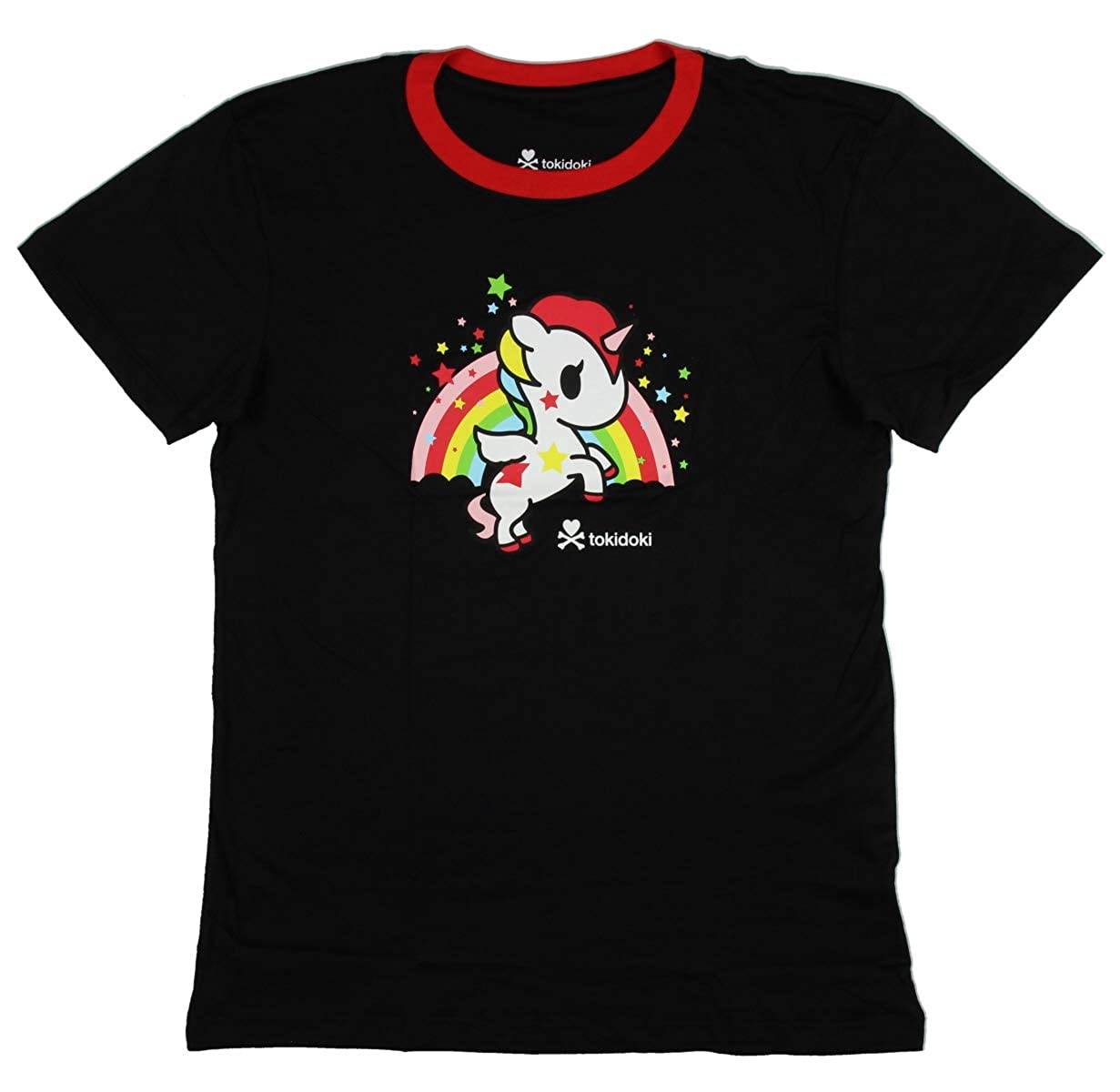 Tokidoki Women's Unicorno Stellina Rainbow Boy Fit Cut T-Shirt