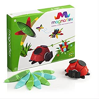 WowWee Magnaflex Critters Set (34 Pieces) - Flexible Magnetic Construction Kit