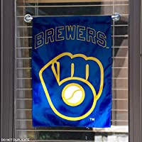 Milwaukee Brewers Retro Throwback Glove Double Sided Garden Flag