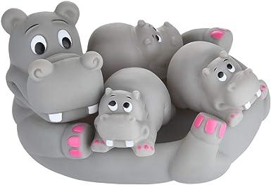 1 MUMMY 3 BABIES 4 PC CLOWNFISH ANIMAL FAMILY BATH TIME SET KIDS BABY TOY