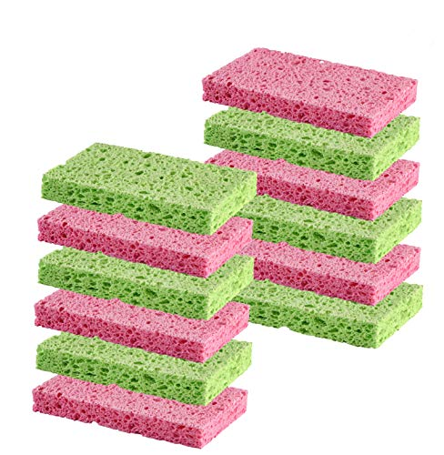 Cleaning Scrub sponge by Scrub-it -Assorted Colors - Non-Scratch -12 pack