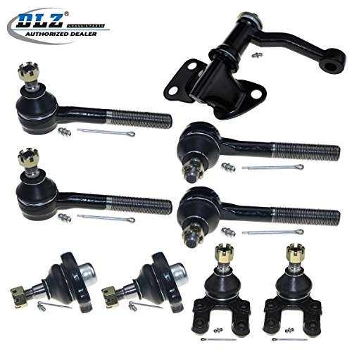 - DLZ 9 Pcs Front Suspension Kit-2 Upper 2 Lower Ball Joint 2 Outer 2 Inner Tie Rod End 1 Idler Arm Compatible with 1986-1994 D21 4WD 1987-1992 Pathfinder 1995-1997 Pickup 4WD K9500