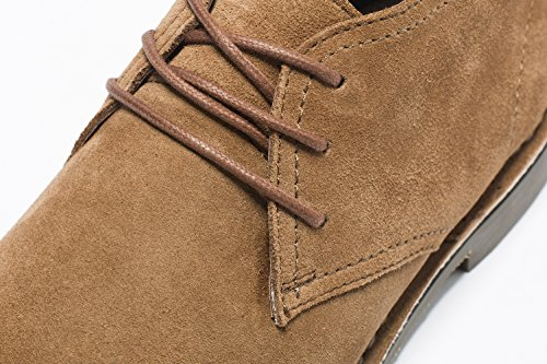 Golaiman Mens Suede Leather Chukka Boots Lace Up Casual Winter Ankle Desert Boots Brown 0ootqepeZD