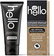 Hello Oral Care Activated Charcoal Teeth Whitening Fluoride Free and SLS Free Toothpaste