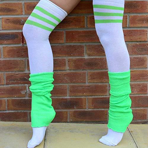 Muslo para Rayas color verdes de 3 alto colores Adam Eesa Cosplay rodilla 4 calcetines mujer rayas a blancas de en qTnCFxgwC