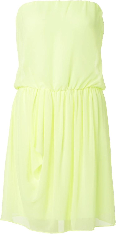 Hallhuber Kleid tailliert durch Gummizug zitrus, 18: Amazon.de