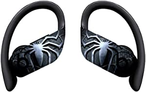 MOUISITON Wireless Earphone Decal Sticker for Powerbeats Pro 2019 Released Ultra Thin Precise Cutting Vinyl Protective Skin (for Newest Powerbeats Pro 2019, Black Spider)