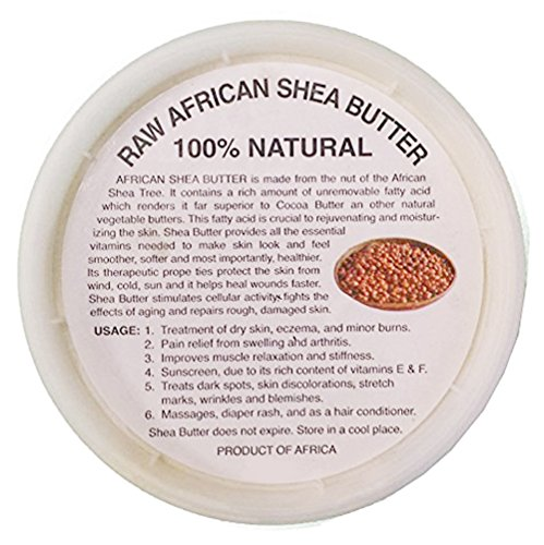 Raw Unrefined African Shea Butter - 8oz, 16oz, 32oz Containers by Sheanefit (Ivory 32oz/1pc)
