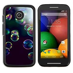 LECELL--Funda protectora / Cubierta / Piel For Motorola Moto E -- burbujas de jabón naturaleza del verano de reflexión --