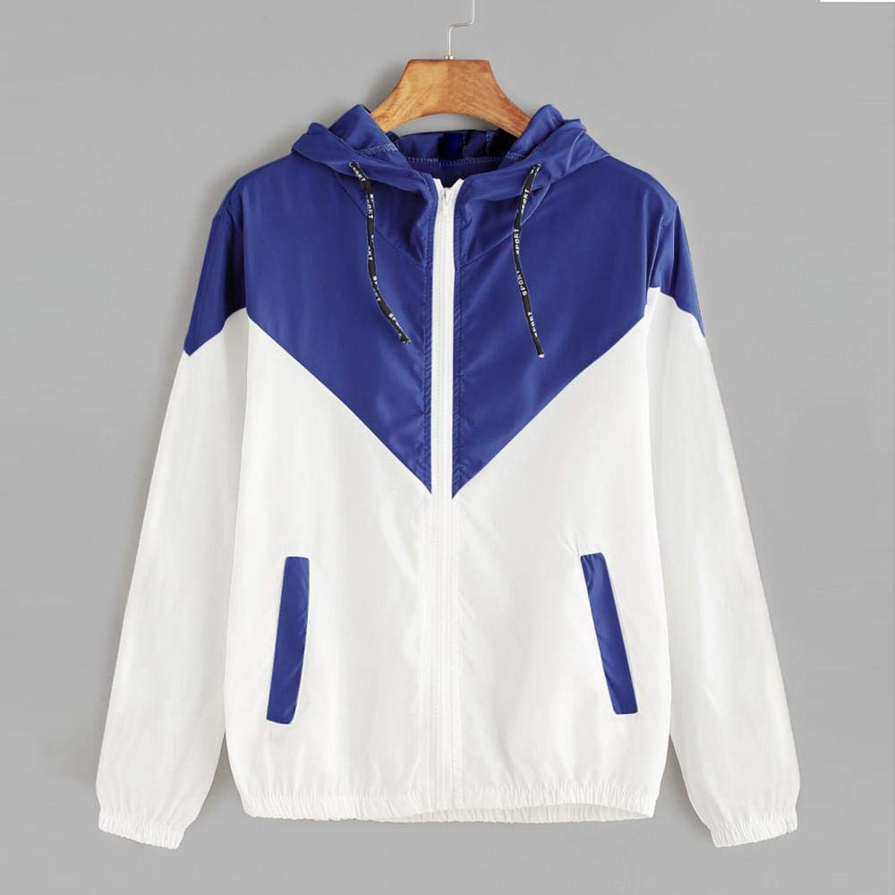 Jacket Damen Lange Sweatjacke Kapuzenjacke Sweatshirtjacke