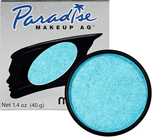 Mehron Makeup Paradise AQ (1.4 oz) (Brillant Bleu Bebe Light Blue) -