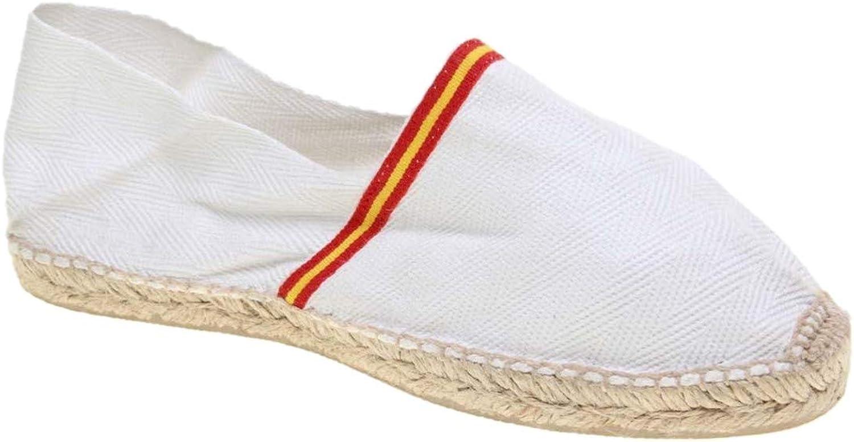 Alpargata Piso Yute y Tejido Lona Espiga Bandera ESPAÑA Made IN ...