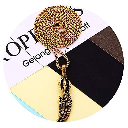Candy-OU Fashion Maple Leaf Necklace Hemp Leaf Pendant Chain Necklace for Men/Women Blue Natural Stone Necklaces Punk Jewelry Accessories