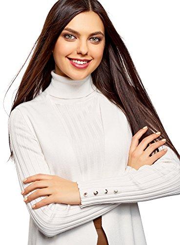 Donna oodji Tasche Bianco Gilet 1200n Maglia Ultra con in Ar5OASq