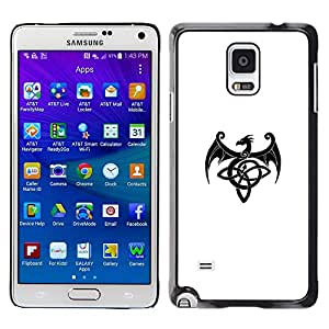 Be Good Phone Accessory // Dura Cáscara cubierta Protectora Caso Carcasa Funda de Protección para Samsung Galaxy Note 4 SM-N910 // Decal Monster Ink Black White