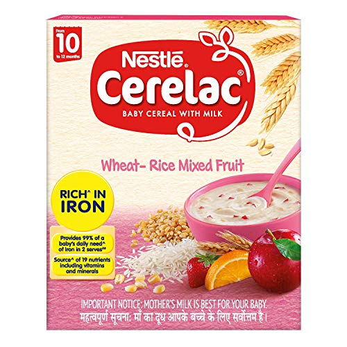 Nestlé Fortified Baby Cereal With Milk  Wheat-Rice Mixed Fruit  Stage-3 (10 Months +) – 300 gm