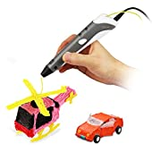 Soyan 3D Pen for Arts and Crafts, 3D Molding, Sculpting and Doodling, Perfect Gift for Kids (Gray)