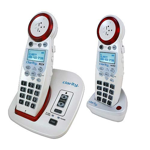 Clarity XLC4 Amplified Cordless Phone Bundle with (1) XLC7HS