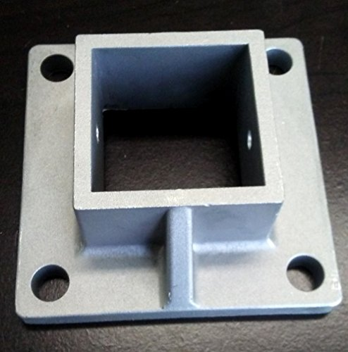 Aluminum Heavy Duty Floor Post Flange fits 2'' Sq Post for Fence and Deck (12)