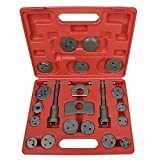 Super Deal 21pc Universal Caliper Tool Kit Case Wind Back Disc Brake Pad Piston Compressor w/Case