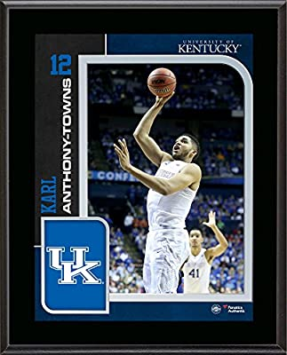 """Karl Anthony-Towns Kentucky Wildcats 10.5"""" x 13"""" Sublimated Player Plaque - Fanatics Authentic Certified"""