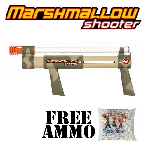 Camouflage Marshmallow Shooter w/ Free Bag of Marshmallow Ammo -