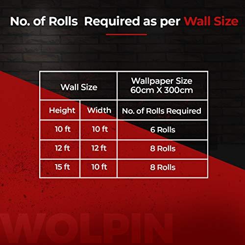 Wolpin Wall Stickers Furniture Wallpaper Wood (60 x 300 cm) Door, DIY Vinyl, Almirah, Shelf Liner, Table Top, Wardrobe, Kitchen Cupboard Decal, Mahogany Brown