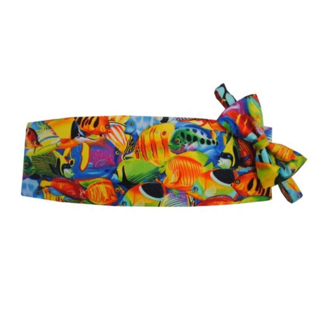 Hawaiian Salt Water Fish Tuxedo Cummerbund and Bow Tie Set by David's Formal Wear