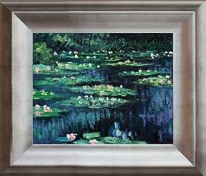 Pintado a mano reproducción de Claude Monet Water Lilies II enmarcado de pintura al óleo, 8x 10