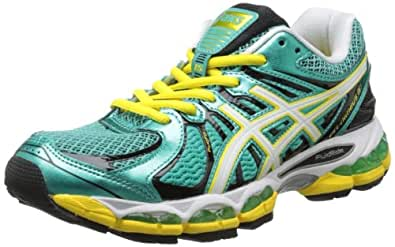 ASICS Women's GEL-Nimbus 15 Running Shoe,Green/Pearl White/Yellow,