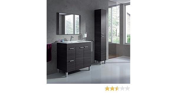 HABITMOBEL Pack Completo BAÑO Mueble 2 Puertas + 2 cajones con Espejo + Lavabo de PMMA (NO Clásica Cerámica) + Columna INCLUIDA: Amazon.es: Hogar