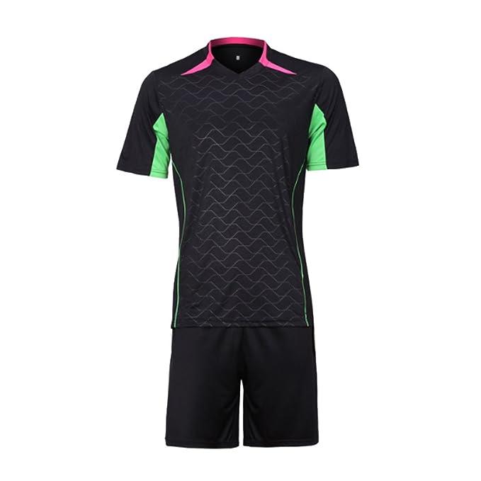 Aiweijia Camiseta de fútbol de Manga Corta para Hombre Ropa Deportiva  Casual Conjuntos para Correr Camisas y Pantalones Cortos de Moda   Amazon.es  Ropa y ... 313f3eb30d737