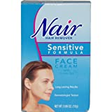 Nair Hair Remover Sensitive Formula Face Cream with Green Tea, .69-Ounce Tubes (Pack of 3)