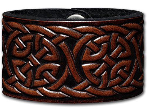 Leather Bracelet Embossed 40mm Celtic Kn - Antique Celtic Knot Shopping Results