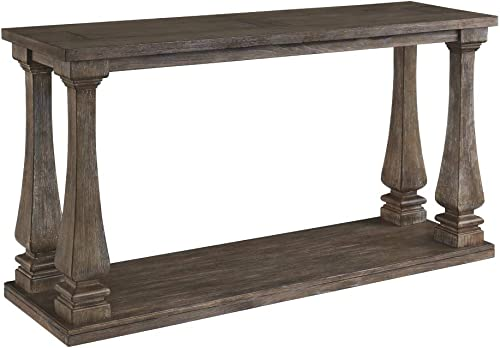 Signature Design by Ashley – Johnelle Console Table, Weathered Gray Wood