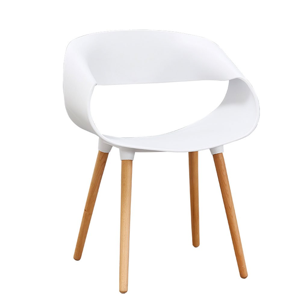 White Northern Europe Simple and Modern Lounge Chair Visitors Reception Negotiate Chair Dessert Shop Dinette Chairs 80 × 40 × 47cm (color   orange)