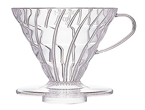 - Hario V60 Plastic Coffee Dripper, Size 02, Clear