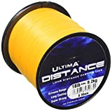 Ultima E5274 Distance Long Range Casting and Sea Fishing Line - Fire Orange, 0.38 mm - 18.0 lb