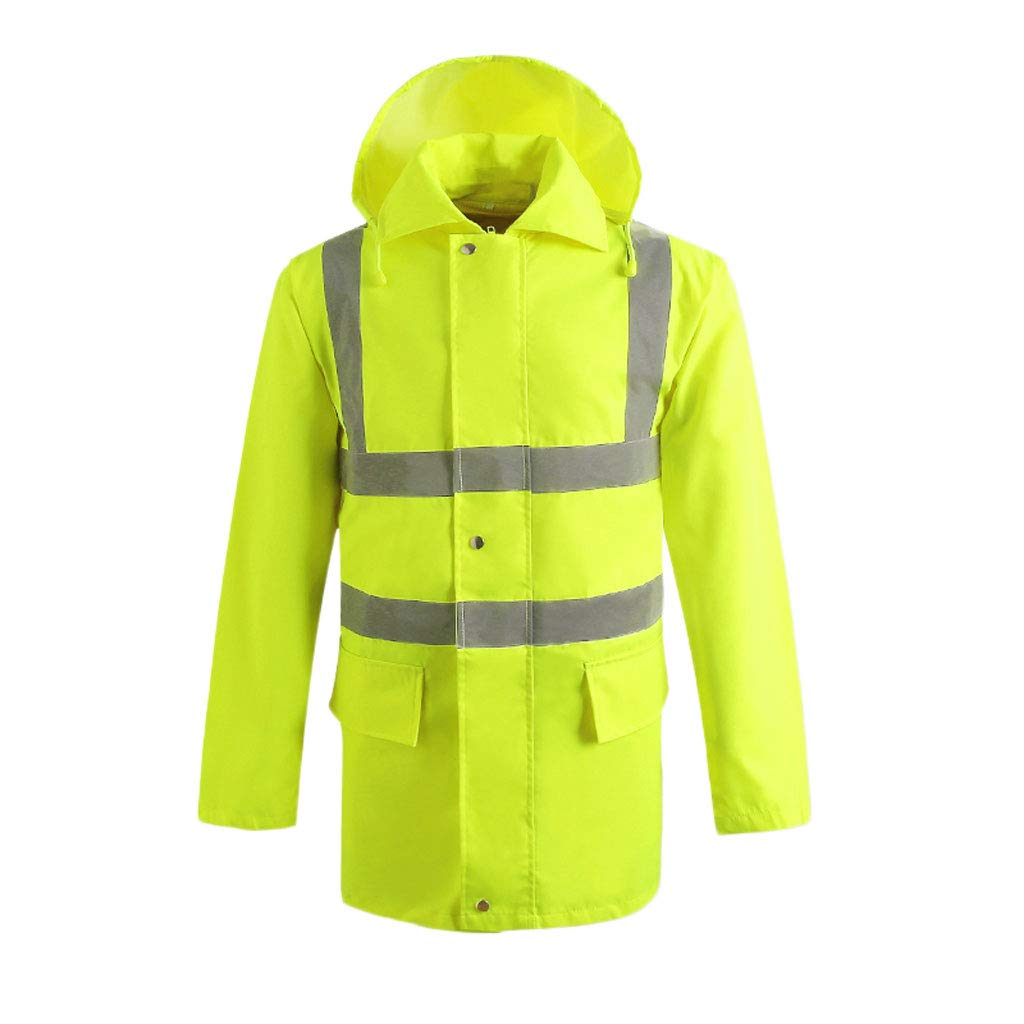 Reflective Safety Clothing Waterproof Overalls Traffic Safety Raincoat Reflective Clothing (Size : XXXL)