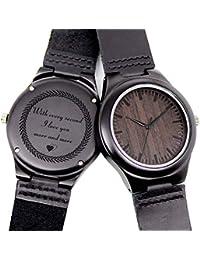 Engraved Wooden Watches for Boyfriend Husband,...