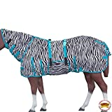 HILASON 66'' - 84'' UV Protect MESH Bug Mosquito Horse Fly Sheet Summer Spring Zebra Turquoise (72'')