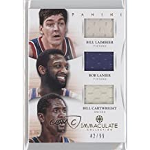 Bill Cartwright; Bob Lanier; Bill Laimbeer #42/99 (Basketball Card) 2012-13 Panini Immaculate Collection - Trios Materials #1