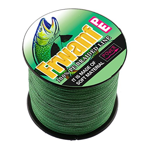 Frwanf Super Strong Braid Line 1000M 1093Yards Multifilament Fishing Line 6LB-300LB PE Wire Line for Fishing 4X 8X Strands Sink String